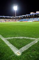 FUSSBALL     1. BUNDESLIGA     SAISON 2007/2008 Symbolbild Fussball, Stadion bei Nacht mit Focus auf Eckballmarkierung. Fotografiert am 06.05.2008 im Rewirpowerstadion in Bochum