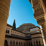 Nazaries Palaces of the Alhambra in Granada. Granada, Spain.