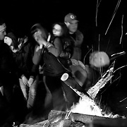 Italy, Basilicata- At the camp, by night: also young people follow the tradition © 2012 Mama2