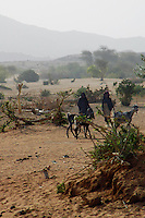 Niger, Agadez, Tidene, 2007. Women walk in to the well area from miles around. Many do not have animals to spare for transporting people or goods.