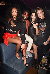 Left to right, Jourdan Dunn, Tinie Tempah, Adriana Lima and Neels Visser at the Maybelline New York Bring on The Night party hosted by Adriana Lima & Jourdan Dunn at Scotch of St.James, 13 Masons Yard, England. 18 February 2017.