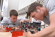 18208Student Reasearch & Creativity Activity Fair Spring 2007...The UFO Project Electrical Enginering..Mike Rist(left), Nathan Miller(right)