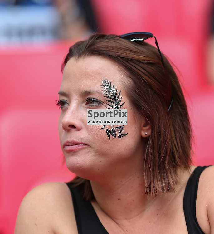 A New Zeland supporter before the Rugby World Cup New Zealand v Argentina, Sunday 20 September 2015, Wembley Stadium (Photo by Mike Poole)