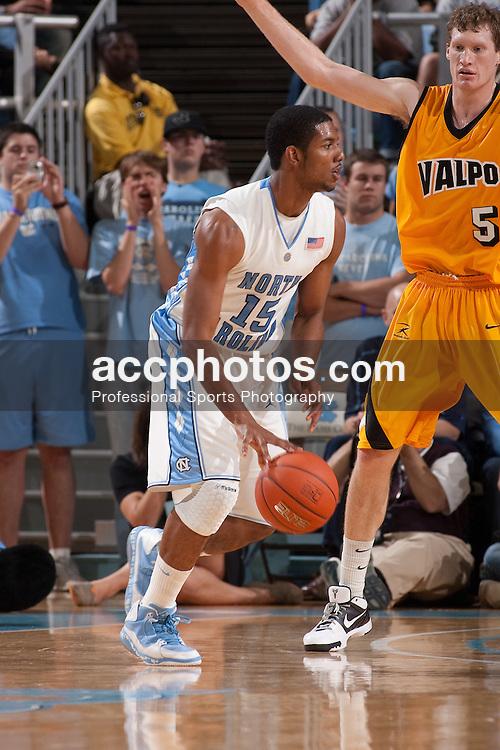 15 November 2009: North Carolina Tar Heels guard Leslie McDonald (15) during a 88-77 win over the Valparaiso Crusaders at the Dean Smith Center in Chapel Hill, NC.