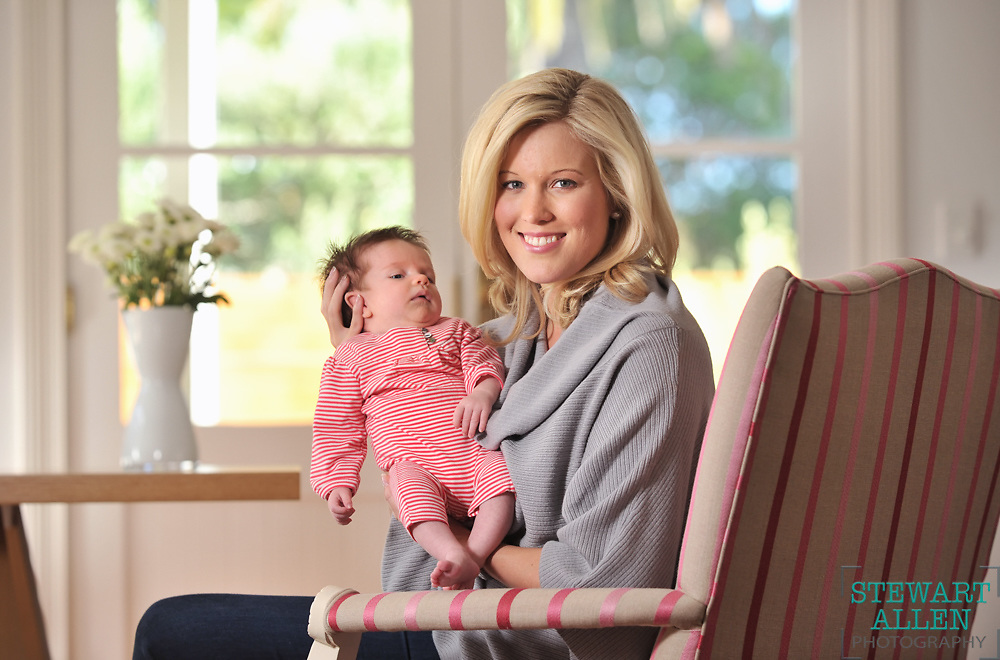 07/06/2013 NEWS: NEWS Sky News presenter Ash Gillon and baby Phoebe Rose Hood (6 weeks) at home in Claremont  Story Anthony De Ceglie   Photo Stewart Allen