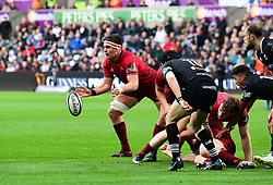 Munster's Billy Holland - Mandatory by-line: Craig Thomas/JMP - 16/09/2017 - RUGBY - Liberty Stadium - Swansea, Wales - Ospreys Rugby v Munster Rugby - Guinness Pro 14