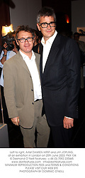 Left to right, Artist DAMIEN HIRST and JAY JOPLING, at an exhibition in London on 25th June 2003.PKX 134