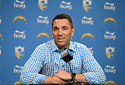 Apr 22, 2019; Costa Mesa, CA, USA; Los Angeles Chargers general manager Tom Telesco at a press conference prior to the 2019 NFL Draft.