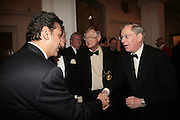 Abbey King, President of the Royal Academy Sir Nicholas Grimshaw, and The Duke of Gloucester. The Royal Academy Schools dinner and auction. Royal Academy. London. 27 March 2007.  -DO NOT ARCHIVE-© Copyright Photograph by Dafydd Jones. 248 Clapham Rd. London SW9 0PZ. Tel 0207 820 0771. www.dafjones.com.