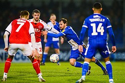 Edward Upson of Bristol Rovers challenges for the ball - Mandatory by-line: Dougie Allward/JMP - 25/01/2020 - FOOTBALL - Memorial Stadium - Bristol, England - Bristol Rovers v Fleetwood Town - Sky Bet League One