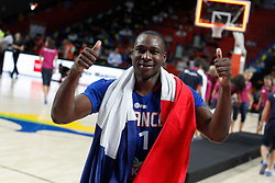 13.09.2014, City Arena, Madrid, ESP, FIBA WM, Frankreich und Litauen, Entscheidungsspiel zwischen Platz 3 und 4, im Bild France´s Pietrus celebrates their victory // during FIBA Basketball World Cup Spain 2014 playoff match place 3 and 4 between France and Lithuania at the City Arena in Madrid, Spain on 2014/09/13. EXPA Pictures © 2014, PhotoCredit: EXPA/ Alterphotos/ Victor Blanco<br /> <br /> *****ATTENTION - OUT of ESP, SUI*****