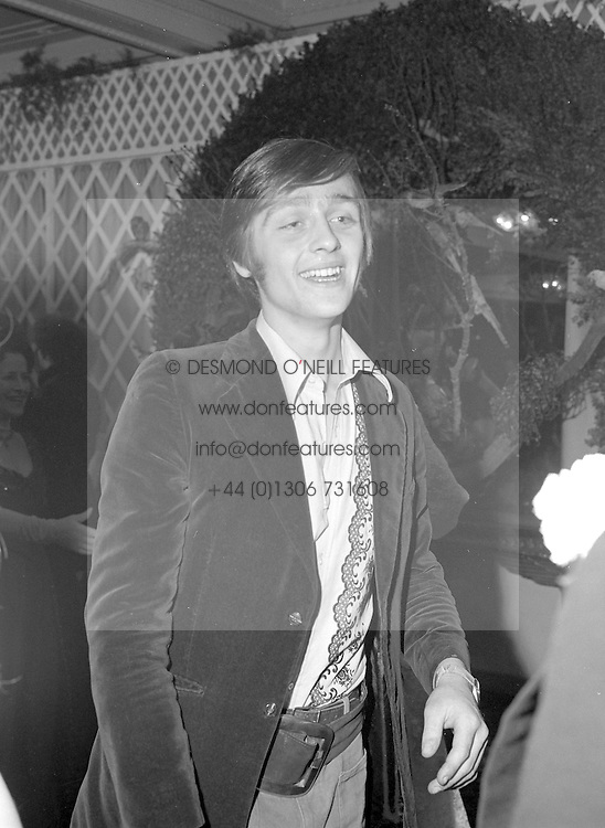 The EARL GROSVENOR - later the 6th Duke of Westminster at a party in London on 4th December 1972.