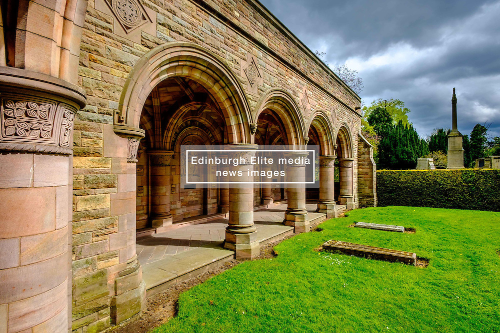 The Roxburghe Memorial Cloister – built in the 1930s to commemorate the 8th Duke of Roxburghe, Kelso Abbey, Scottish Borders<br /> <br /> (c) Andrew Wilson | Edinburgh Elite media