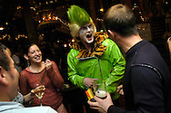 Young couples enjoying the indoor entertainment and having drinks in the Alton Towers Hotel Bar, Alton Towers, UK..Photo©Steve Forrest/Workers' Photos..