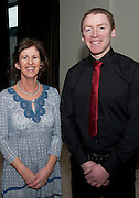 Avaya Choir Director Dymna O'Byrne  and singer Donal Ward  who took part in the Choir Factor 2014 in the Radisson blu Hotel, Galway in aid of SCCUL Sanctuary at Kilcuan, Clarinbridge . Photo:Andrew Downes.