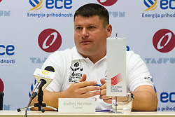 Andrej Hajnsek, coach of Martina Ratej, slovenian record holder in javelin, at press conference before start of season in Celje on May 13th 2015. Photo by: Peter Kastelic / Sportida
