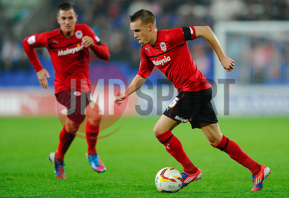 Cardiff Midfielder Craig Noone (ENG) in action during the second half of the match - Photo mandatory by-line: Rogan Thomson/JMP - Tel: Mobile: 07966 386802 23/10/2012 - SPORT - FOOTBALL - Cardiff City Stadium - Cardiff. Cardiff City v Watford - Football League Championship