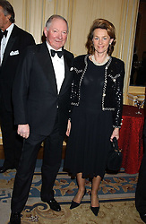 MR & MRS BARRY HILLS at the Cartier Racing Awards held at the Four Seasons Hotel, Hamilton Place, London W1 on 16th November 2005.<br /><br />NON EXCLUSIVE - WORLD RIGHTS