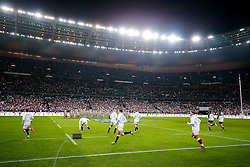 England players take to the pitch - Mandatory byline: Rogan Thomson/JMP - 19/03/2016 - RUGBY UNION - Stade de France - Paris, France - France v England - RBS 6 Nations 2016.