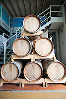 Galatina - Cantine Aperte 2010 - Azienda Agricola Valle dell'Asso - Le botti inferiori contengono il vino più vecchio e man mano viene spostato nelle botti più in alto.