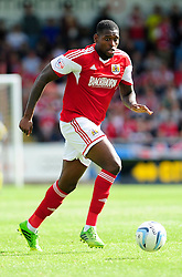 Bristol City's Jay Emmanuel-Thomas   - Photo mandatory by-line: Dougie Allward/JMP - Tel: Mobile: 07966 386802 11/08/2013 - SPORT - FOOTBALL - Sixfields Stadium - Sixfields Stadium -  Coventry V Bristol City - Sky Bet League One