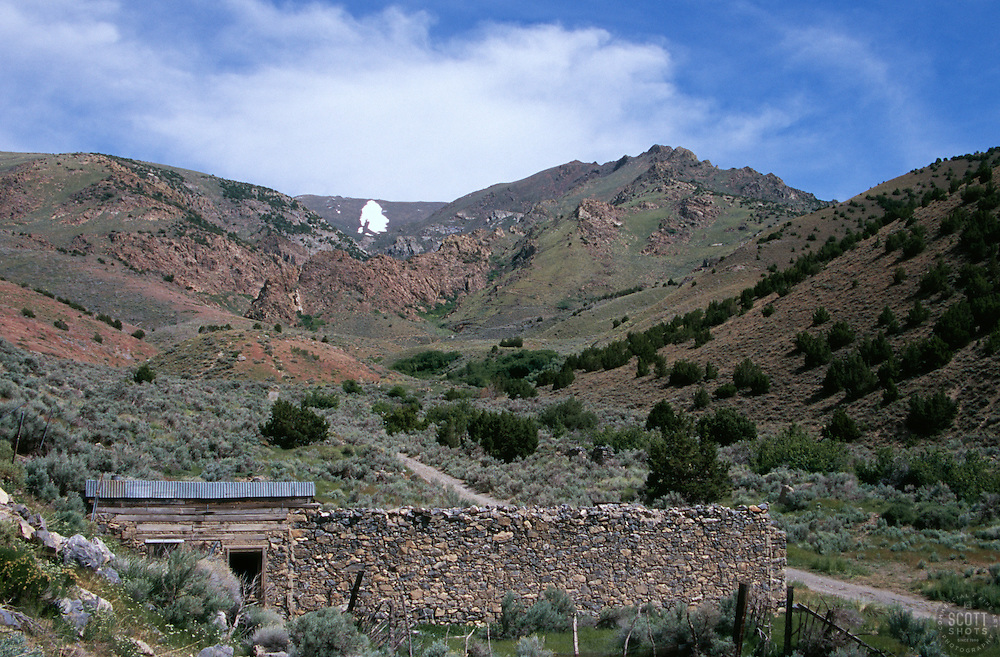 &quot;Florida Canyon, Nevada&quot; - This old home is located above Rye Patch Reservoir in the Florida Canyon. It is part of a small Ghost Town. <br /> Photographed: May 2006