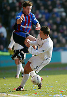 Photo: Scott Heavey<br />Crystal Palace V Leeds Utd. 16/02/03.<br />Tommy Black of Crystal Palace takes a ride during this FA cup 5th round clash.