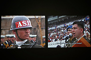 Kassel, Germany. Opening days of documenta14.<br /> Fridericianum.<br /> Köken Ergun: I, Soldier, 2005