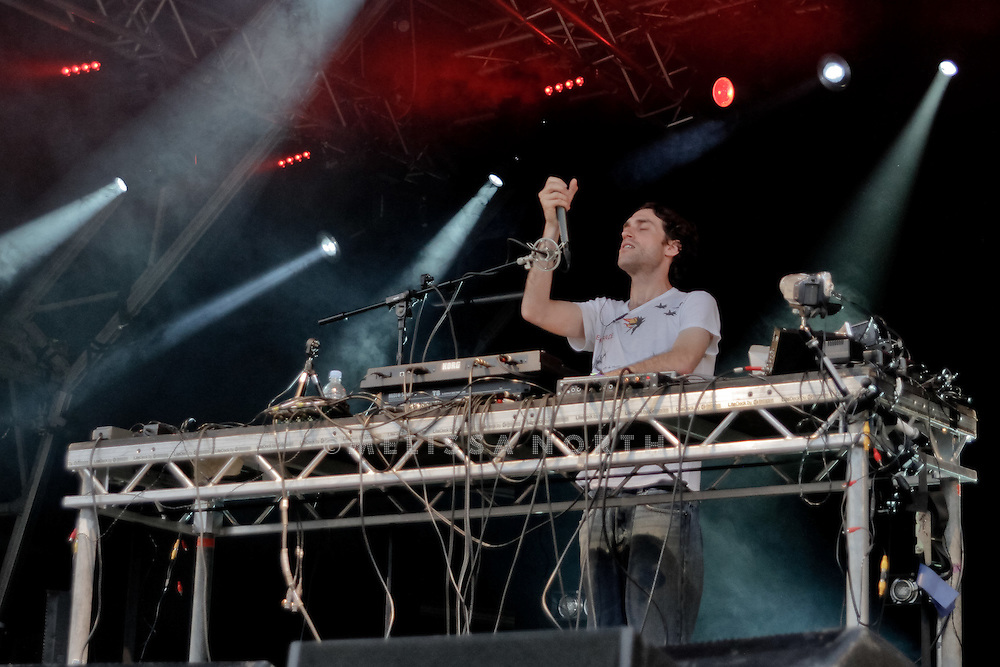Beardyman performs at Camp Bestival on 31 July in Lulworth. Photo by Melissa North