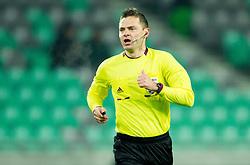 Referee Damir Skomina during football match between NK Olimpija and NK Maribor in first leg of quarter-final of Slovenia Cup, on February 27, 2013 in SRC Stozice, Ljubljana, Slovenia. (Photo By Vid Ponikvar / Sportida)