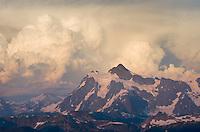 Summer thunderstorm over Mount Shuksan, North Cascades Washington