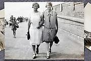on the beach walk 1900s England