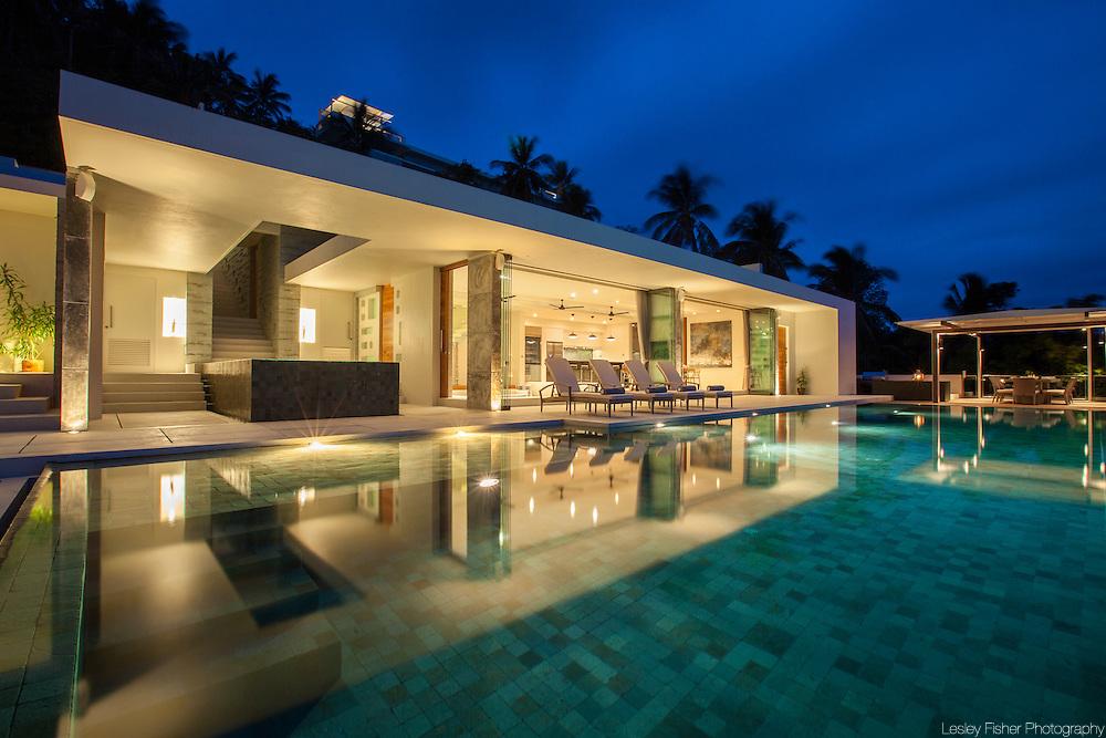 Swimming pool at Lime Villa 4, a luxury private, ocean view villa, Koh Samui, Surat Thani, Thailand