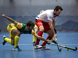 BERLIN - Indoor Hockey World Cup<br /> South Africa - Belgium<br /> foto: Gilles Jacob <br /> WORLDSPORTPICS COPYRIGHT FRANK UIJLENBROEK