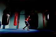 Australian Commonwealth Games boxer Romesh Fernando training at Monash uni in Melbourne before the strart of teh Commonwealth games.