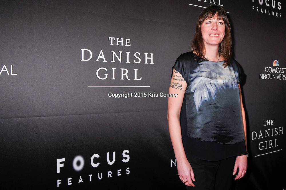"Rebecca Root, actress, The Danish Girl, attends the DC premiere of Focus Features' ""THE DANISH GIRL"" at the United States Navy Memorial in Washington DC on November 23, 2015.  (Photo by Kris Connor for Focus Features)"