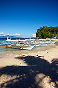 Photo shows the pretty cove at Big La Laguna, Puerto Galera, the Philippines