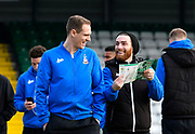 Matthew Kilgallon (5) of Bradford City and Romain Vincelot (6) of Bradford City before the The FA Cup 3rd round match between Yeovil Town and Bradford City at Huish Park, Yeovil, England on 6 January 2018. Photo by Graham Hunt.