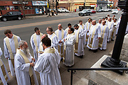DENVER, CO - MARCH 2: Transitional deacon ordination at the Cathedral Basilica of the Immaculate Conception on March 2, 2019, in Denver, Colorado. (Photo by Daniel Petty/for Denver Catholic)