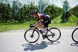Hannah Barnes (GBR) on Stage 5 of 2019 Giro Rosa Iccrea, a 88.8 km road race from Ponte in Valtellina to Lago di Cancano, Italy on July 9, 2019. Photo by Sean Robinson/velofocus.com
