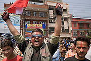 People celebrates in the streets of Kathmandu. April 10th 2008 the historic Consistuent assembly elections took place in Nepal, putting an end to a centuries of monarchy. The assembly will form a new constitution and abolish the monarchy and King Gyanendras rule. The big question remains if the new maoist led government will be a positive or a negative factor in a country that recently emerged from a decade of civilwar. Photo: Christopher Olssøn.