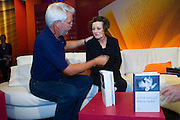 Buchmesse Frankfurt, biggest book fair in the World. Nobel Price laureate 2009 Herta Mueller at 3sat TV.
