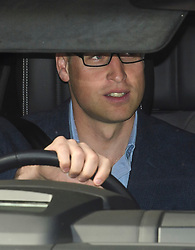 © Licensed to London News Pictures. 07/09/2017. London, UK. PRINCE WILLIAM leaves after dropping off PRINCE GEORGE at Thomas's Battersea in south London for his first day at School. Photo credit: Ben Cawthra/LNP