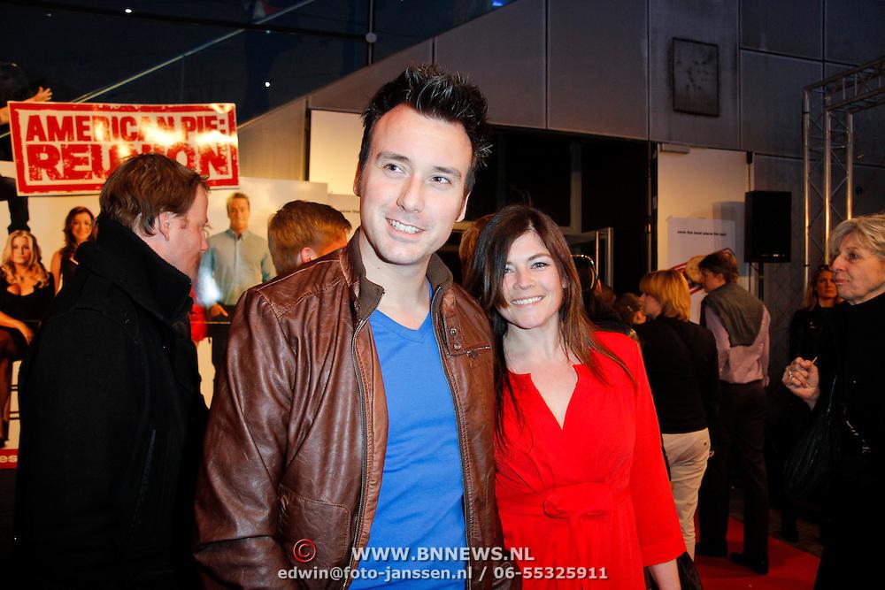 NLD/Amsterdam/20120326 - Inloop premiere American Pie: Reunion, Chris Hordijk en partner ..