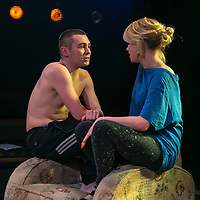 Yen by Anna Jordan;<br /> Directed by Ned Bennett;<br /> Sian Breckin as Maggie;<br /> Jake Davies as Bobbie;<br /> Jerwood Theatre Upstairs, Royal Court, London, UK;<br /> 22 January 2016