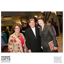 Judith Tizard;James Judd;Helen Clark at the NZSO 60th Anniversary Concert at Michael Fowler Centre, Wellington, New Zealand.