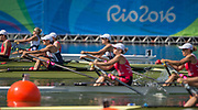 "Rio de Janeiro. BRAZIL.   GBR W2X. Semi Final A/B. Bow Vicky THORNLEY and Kathrine GRAINGER. 2016 Olympic Rowing Regatta. Lagoa Stadium,<br /> Copacabana,  ""Olympic Summer Games""<br /> Rodrigo de Freitas Lagoon, Lagoa.   Tuesday  09/08/2016 <br /> <br /> [Mandatory Credit; Peter SPURRIER/Intersport Images]"