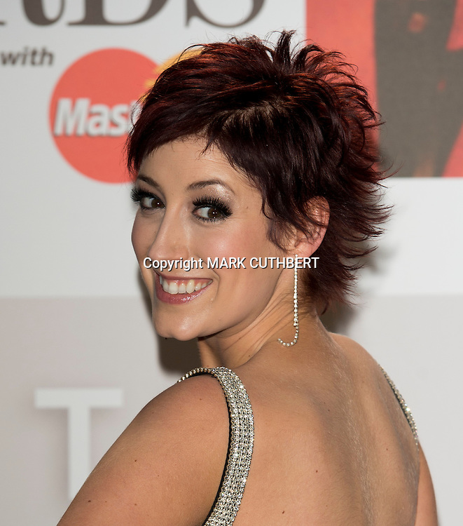 Connie Fisher arriving at the 2012 Classic Brit Awards at the Royal Albert Hall in London.