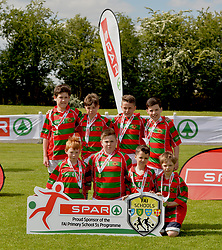 Curraghboy NS, Roscommon finalists in the SPAR FAI Primary Schools 5's Connacht finals, pictured at Solar Park Mayo with their medals. <br /> Pic Conor McKeown