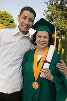 Graduate Mother with Son